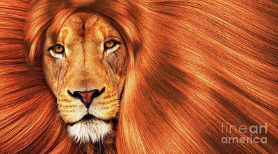 Lion  Print by Prar Kulasekara