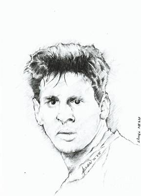 Messi Drawing - Lionel Messi by Abhilekh Phukan