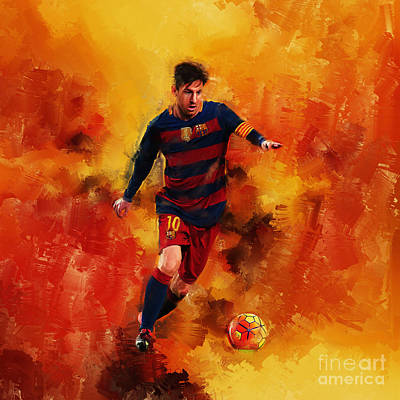 Lionel Messi Print by Gull G