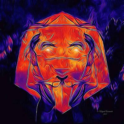 Cool Lion Digital Art - Lioness Amethyst 2 by Majula Warmoth