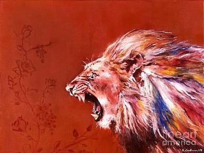 Lion Of Judah Painting - Lion's Roar by Elizabeth Lachmann