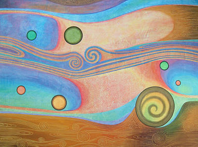 Abstract Movement Painting - Liquid Crystals by Jennifer Baird