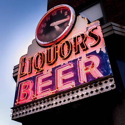 Liquors And Beer On University Ave Print by Jim Hughes