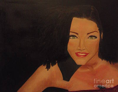 Drips Painting - Lisa Marie  by Catalina Walker