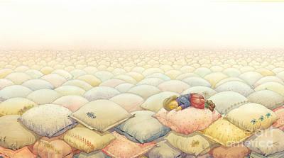 Landscape Drawing - Lisas Journey03 by Kestutis Kasparavicius