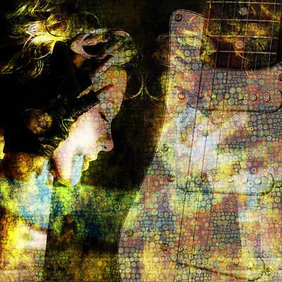 Digital Art - Listening Girl by Toppart Sweden
