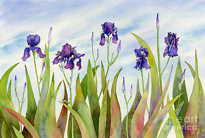 Irises Painting - Listening To Divas by Amy Kirkpatrick