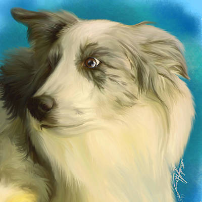 Ipad Painting - Little A by Becky Herrera