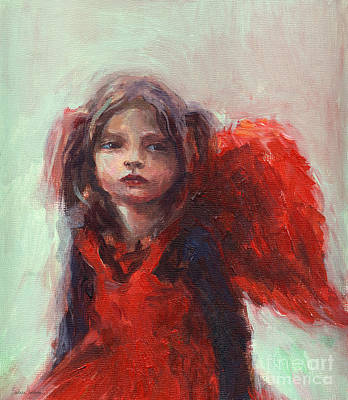 Little Angel Print by Svetlana Novikova