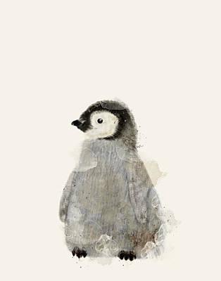 Penguin Digital Art - Little Baby Penguin by Bri B