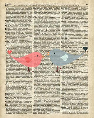 Baby Bird Mixed Media - Little Birds Love by Jacob Kuch