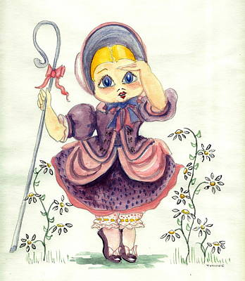 Little Bo Peep Print by Yvonne Ayoub
