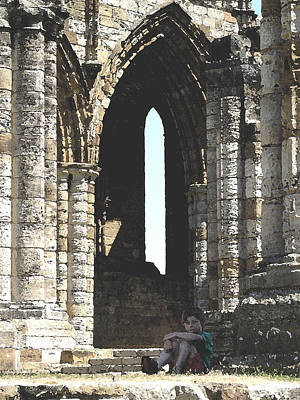 Ruins Mixed Media - Little Boy Under The Arch by Susan Baker