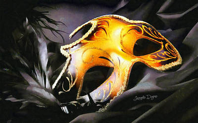 Mask Digital Art - Little Carnival Mask - Da by Leonardo Digenio