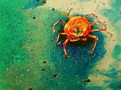 Sand Castles Painting - Little Crab by Heather  Gillmer
