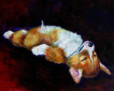 Corgi Painting - Little Dreamer by Lyn Cook
