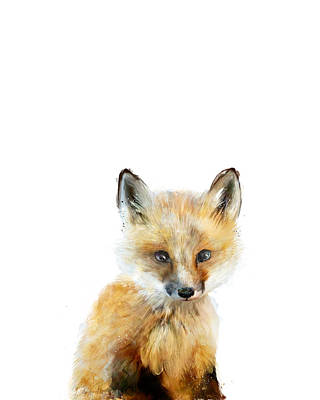 Babies Mixed Media - Little Fox by Amy Hamilton