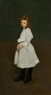Little Girl In White Print by George Bellows