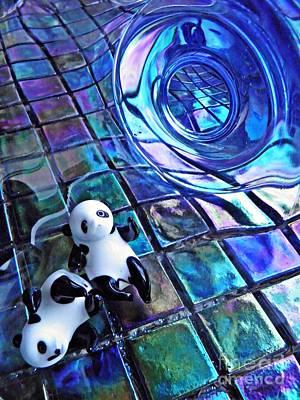 Little Glass Pandas 13 Print by Sarah Loft