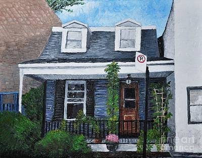Montreal Painting - Little House In The City by Reb Frost