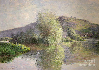 Reflecting Tree Painting - Little Islands At Port-villez by Claude Monet
