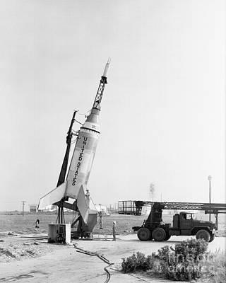 Rockets Photograph - Little Joe On Launcher At Wallops by Stocktrek Images