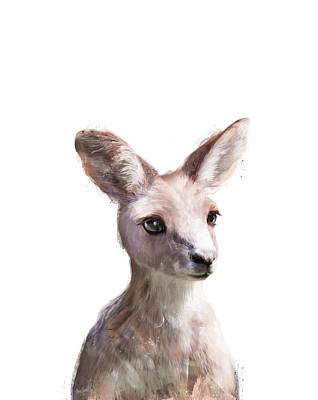 Kangaroo Painting - Little Kangaroo by Amy Hamilton
