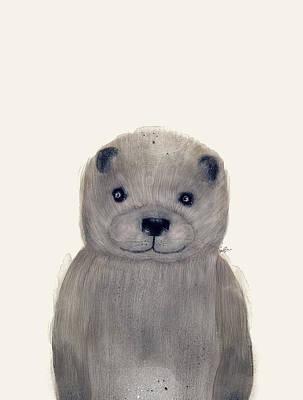 Otter Digital Art - Little Otter by Bri B