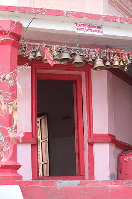 Goddess Durga Photograph - Little Pink Temple Up Close, Almora by Jennifer Mazzucco
