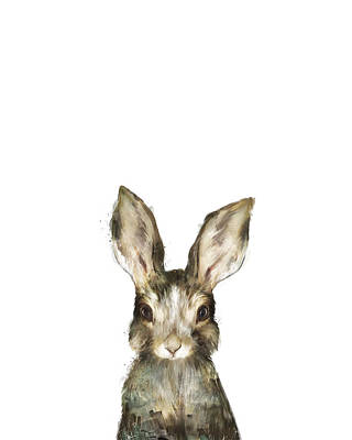 Babies Mixed Media - Little Rabbit by Amy Hamilton