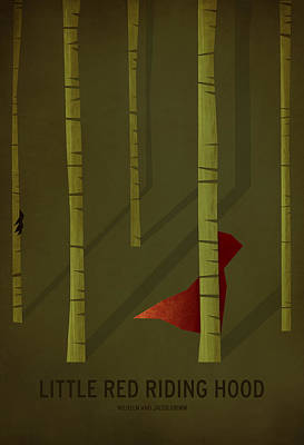 Red Digital Art - Little Red Riding Hood by Christian Jackson