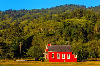 Little Red School House Print by Garry Gay