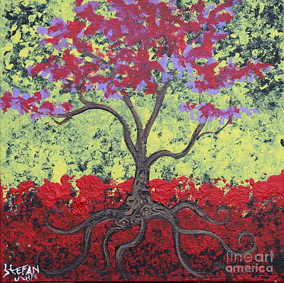 Tree Painting - Little Red Tree by Stefan Duncan
