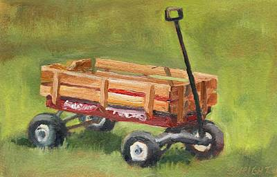 Radio Flyer Wagon Painting - Little Red Wagon by Cory Wright