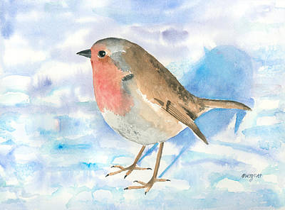 Robin Painting - Little Robin by Arline Wagner