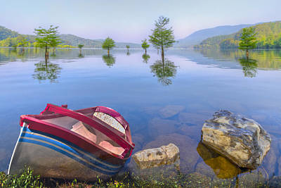 Little Rowboat Original by Debra and Dave Vanderlaan