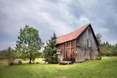 Barns Photograph - Little Rustic Barn, Adirondacks by Gary Heller