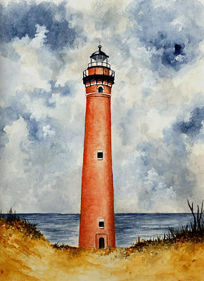 Little Sable Point Lighthouse Original by Michael Vigliotti