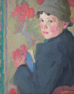 Education Painting - Little Schoolboy by Edith Collier