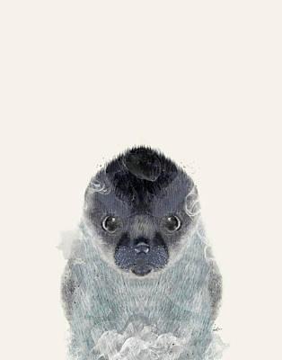 Pup Digital Art - Little Seal by Bri B