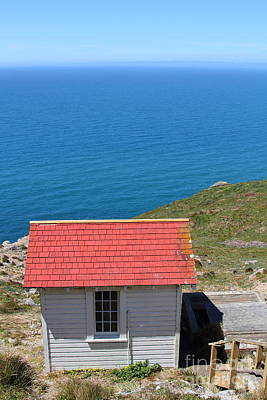 Wingsdomain Photograph - Little Shack At The Point Reyes Lighthouse In California . 7d16020 by Wingsdomain Art and Photography