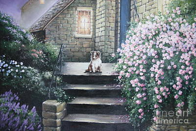 Little Shep Portrait Original by Carolyn MacMahon