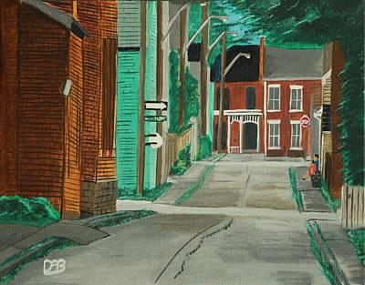 Little Side Street  Original by David Bigelow