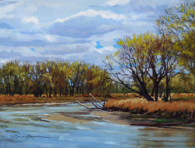 Waterscape Painting - Little Sioux April by Bruce Morrison