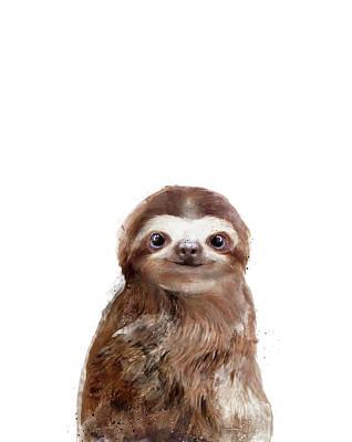 Sloth Mixed Media - Little Sloth by Amy Hamilton
