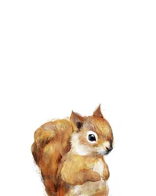 Squirrel Mixed Media - Little Squirrel by Amy Hamilton