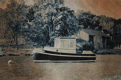 Water Vessels Photograph - Little Tugboat by Michelle Calkins