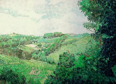 Italian Landscape Mixed Media - Little Tuscan Valley by Jason Charles Allen