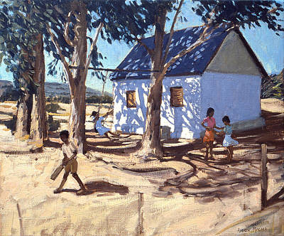 African Landscape Painting - Little White House Karoo South Africa by Andrew Macara