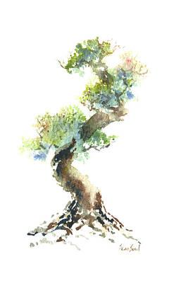 Little Zen Tree 1692 Print by Sean Seal